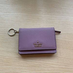 Kate Spade♠️Wallet with zipped pocket & key chain